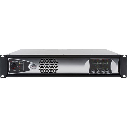 Ashly 4-Channel 1000W Pema Network Power Amplifier with OPDante Card & Protea DSP Software Suite (Low-Z)