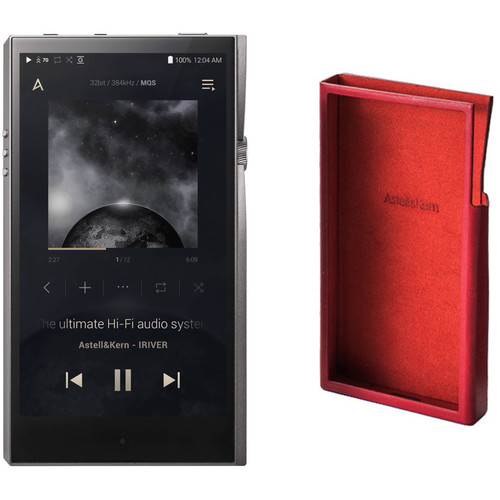 Astell&Kern A&futura Series SE100 Portable Audio Player with Leather Case (Garnet Red) Kit