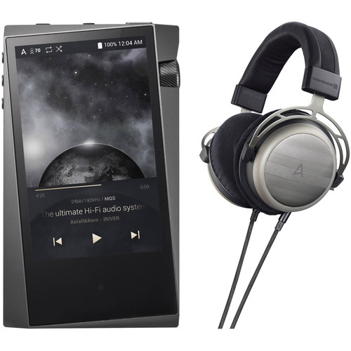 Astell&Kern A&norma SR15 Portable Audio Player with T1p Over-Ear Headphones Kit