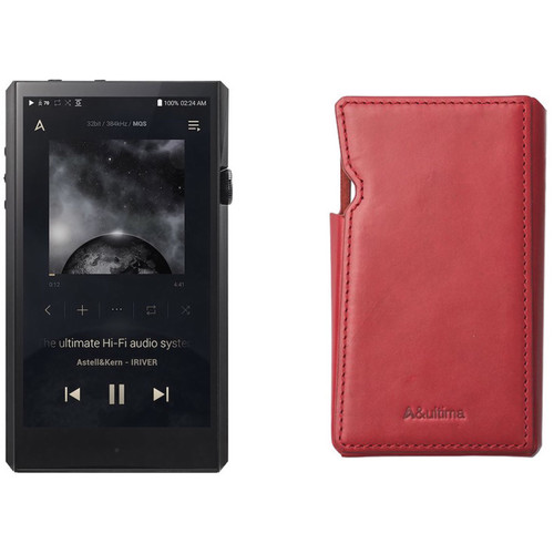 Astell&Kern A&ultima Series SP1000 High-End Music Player (Black) with Leather Case (Sunny Red) Kit