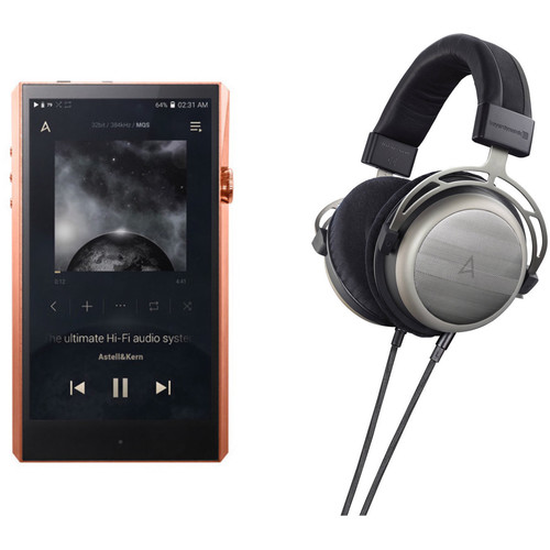 Astell&Kern A&ultima Series SP1000 High-End Music Player with T1p Over-Ear Headphones Kit (Copper)