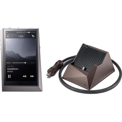 Astell&Kern AK320 Kit with Digital Audio Player and PEM13 Cradle (Gun Metal Player and Meteoric Titan Cradle)