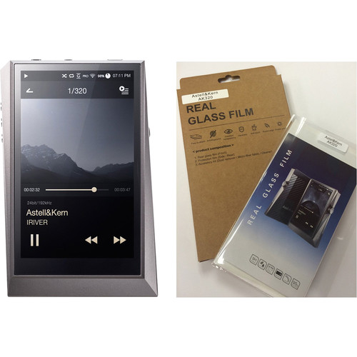 Astell&Kern AK320 Kit with Digital Audio Player and Screen Protector (Gun Metal)