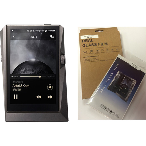 Astell&Kern AK380 Kit with Digital Audio Player and Screen Protector (Gun Metal)