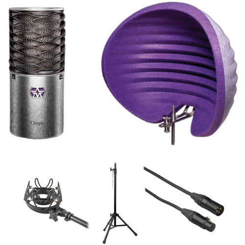 Aston Microphones Origin Cardioid Condenser Microphone and Complete Vocal Bundle Kit