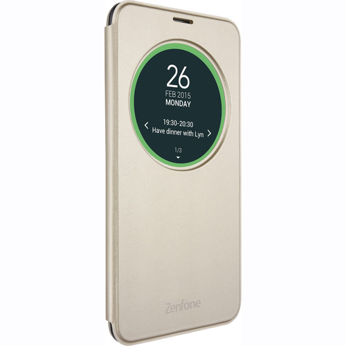 "ASUS View Flip Cover Deluxe Case for 5.5"" ZenFone 3 (Gold)"