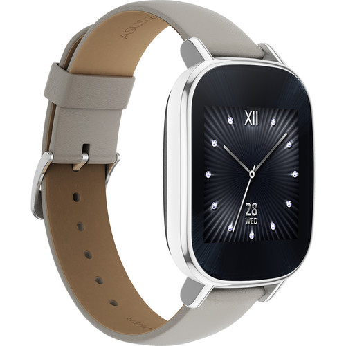 ASUS ZenWatch 2 Android Wear Smartwatch (Silver Casing/Beige Leather Band)