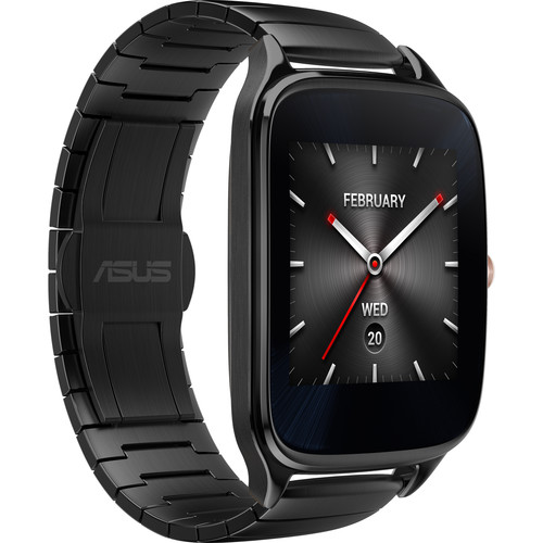 ASUS ZenWatch 2 Android Wear Smartwatch (Gun Metal Casing/Gray Metal Band)