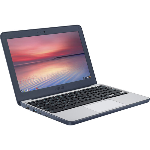 "ASUS 11.6"" C202SA Series 16GB Chromebook (Dark Blue/Silver)"