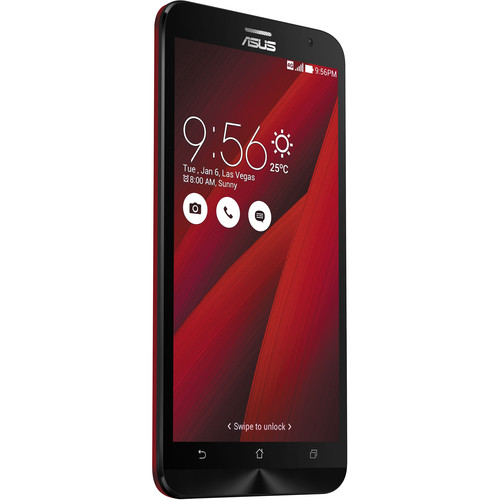 ASUS Glamour Red ZenFone 2 ZE551ML 64GB Smartphone Kit with Gold Battery Pack (Unlocked)