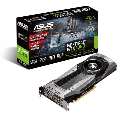 ASUS GeForce GTX 1080 Founders Edition Graphics Card