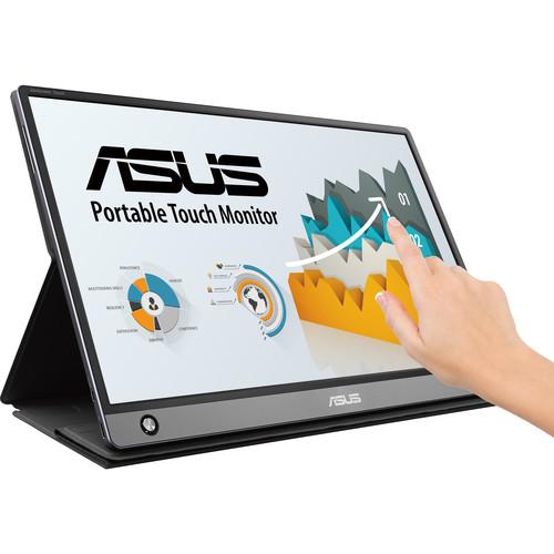 "ASUS 15.6"" ZenScreen Full HD IPS Portable Monitor Touch Non-Glare Screen"