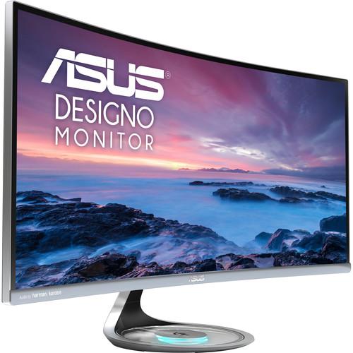 """ASUS Designo MX34VQ 34"""" 21:9 Curved Adaptive-Sync LCD Monitor"""