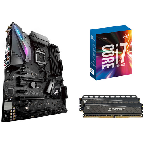 ASUS Republic of Gamers Strix Z270E Gaming LGA 1151 ATX Motherboard Kit with Intel Core i7-6700K CPU and 16GB of RAM