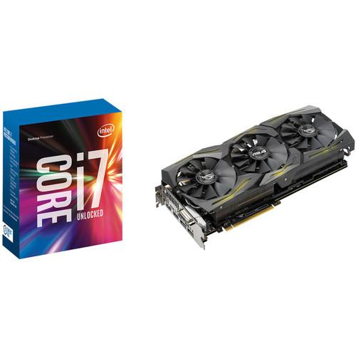 ASUS Republic of Gamers Strix GeForce GTX 1080 Ti Graphics Card & Intel Core i7-7700K Quad-Core Processor Kit