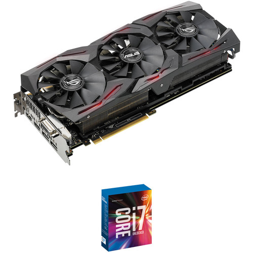 ASUS Republic of Gamers Strix GeForce GTX 1080 Ti OC Edition Graphics Card & Intel Core i7-7700K Quad-Core Processor Kit
