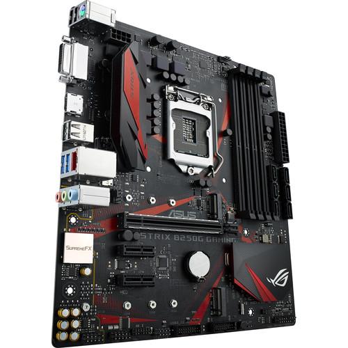 ASUS Republic of Gamers Strix B250G Gaming LGA 1151 Micro-ATX Motherboard