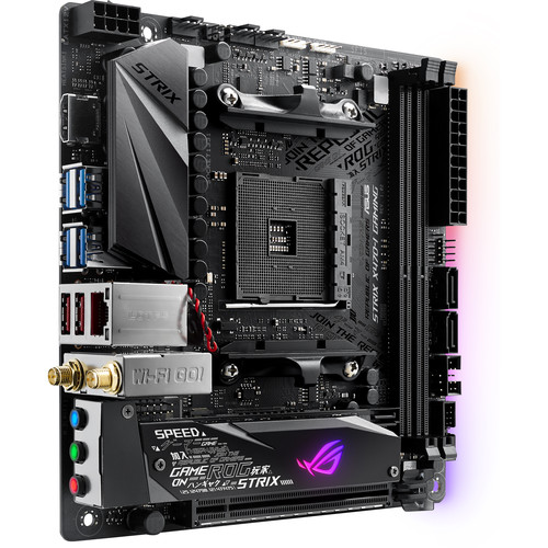 ASUS Republic of Gamers Strix X470-I Gaming AM4 Mini-ITX Motherboard