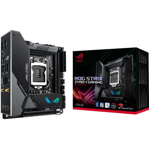 ASUS Republic of Gamers Strix Z490-I Gaming LGA 1200 Mini-ITX Motherboard