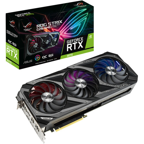 ASUS Republic of Gamers Strix GeForce RTX 3070 GAMING OC Graphics Card