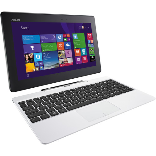 ASUS 64GB eMMC T100 Series Transformer Book (White)