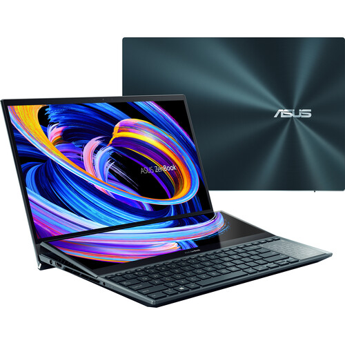 """ASUS 15.6"""" ZenBook Pro Duo 15 OLED Multi-Touch Laptop (Celestial Blue)"""