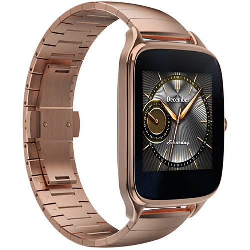 "ASUS ZenWatch 2 1.63"" Smartwatch with HyperCharge (Gold Case, Gold Metal Band)"