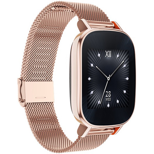 "ASUS ZenWatch 2 1.45"" Smartwatch with HyperCharge (Rose Gold Case, Rose Gold Metal Band)"
