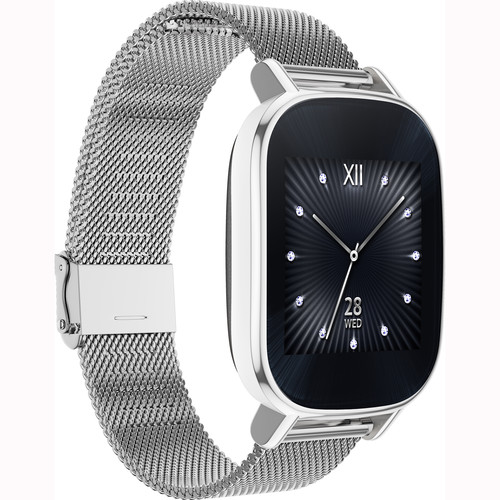 "ASUS ZenWatch 2 1.45"" Smartwatch with HyperCharge (SIlver Case, Silver Metal Band)"