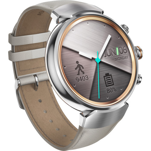 ASUS ZenWatch 3 Smartwatch (Silver Casing/Beige Leather Band)