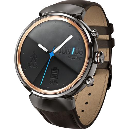 ASUS ZenWatch 3 Smartwatch (Gunmetal Casing/Dark Brown Leather Band)