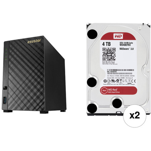 Asustor AS3102T 8TB 2-Bay NAS Server with Drives Kit (2 x 4TB)