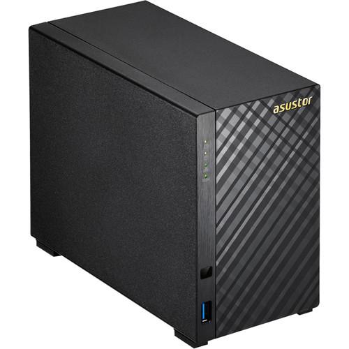 Asustor Celeron 2 Bay Nas Dual-Core Gbe X 2, USB 3.1 Aes-Ni Hardware Encryption Enclosure