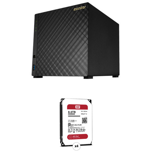 Asustor AS3104T 32TB 4-Bay NAS Server with Drives Kit (4 x 8TB)