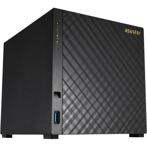 Asustor AS3204T v2 4 Bay Celeron Quad-Core Nas  Enclosure Gbe X 2 Usb 3.1-Aes-Ni Hardware Encryption