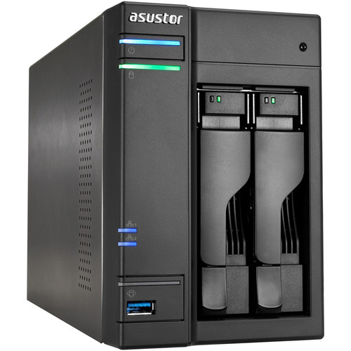 Asustor 2-Bay NAS Server with Intel Celeron Braswell Dual-Core Processor & 2GB Dual-Channel Memory