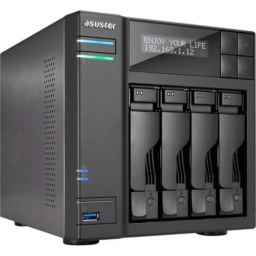 Asustor Apollo Lake Quad-Core 4-Bay Nas  Enclosure Gbe X 2 USB 3.0 X 4 Aes-Ni Encryption With Lockable Tray