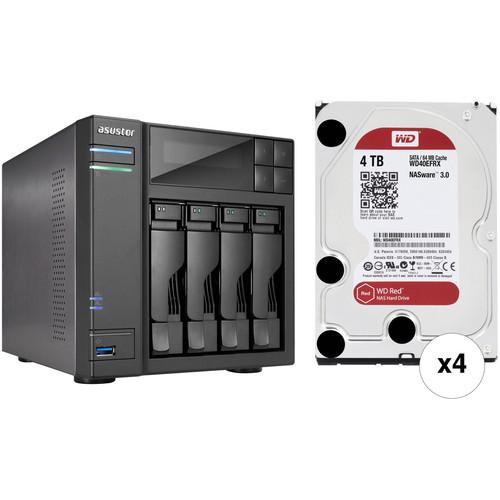 Asustor 16TB (4 x 4TB) 4-Bay NAS RAID Kit