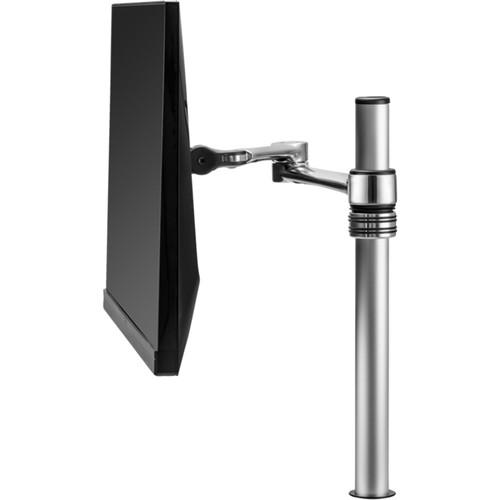 Atdec AF-AT Single Arm Desktop Monitor Mount (Silver, Polished)