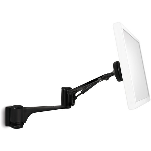 Atdec Articulated Swing Arm Wall Mount for Single Monitor (Black)