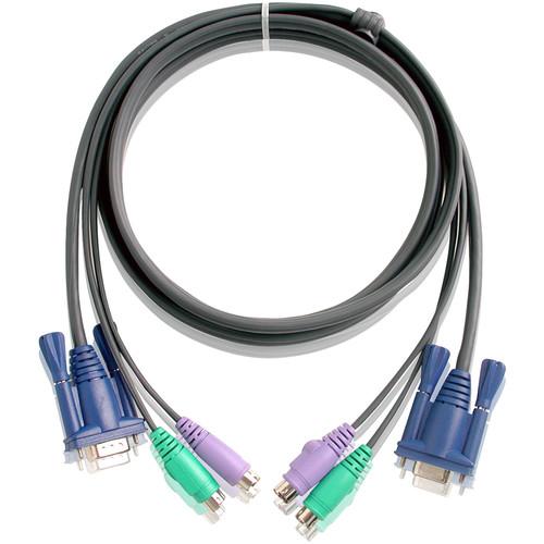 ATEN 2L5002P Slim HDB, PS/2 KVM Cable (6 ft)