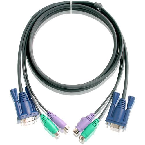 ATEN 2L5003P Slim HDB, PS/2 KVM Cable (10 ft)