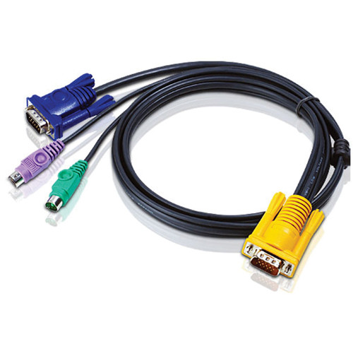 ATEN 2L-5201P SPHD15 to VGA and PS/2 KVM Cable (4')