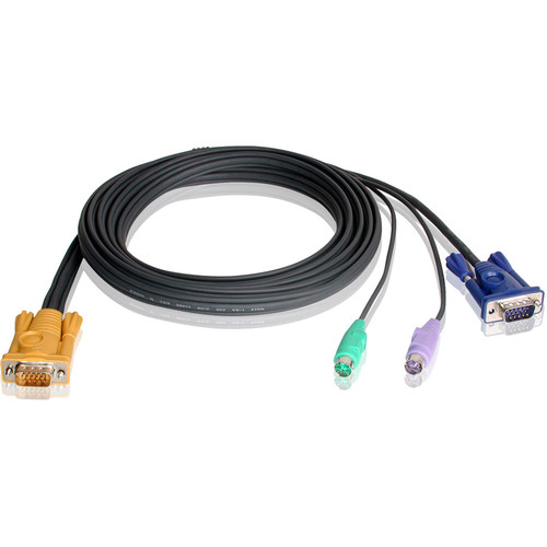 ATEN 2L-5206P SPHD15 to VGA and PS/2 KVM Cable (20')