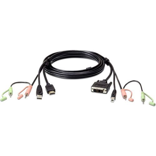 ATEN USB-A HDMI to DVI-D USB-B KVM Cable with Audio (6')