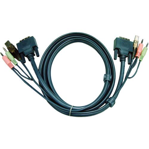 ATEN 2L-7D03UD USB DVI-D Dual Link KVM Cable (16')