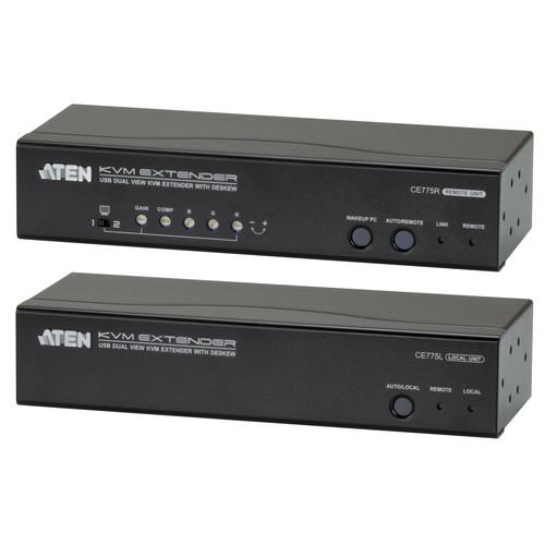 ATEN CE775 Dual View KVM Extender with Deskew