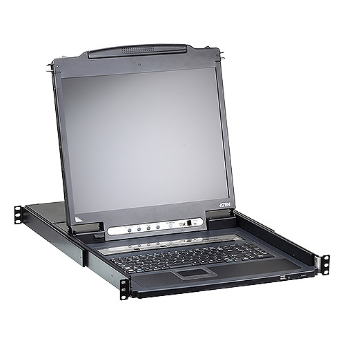 """ATEN 16-Port PS/2-USB VGA KVM over IP Switch with 19"""" LCD"""