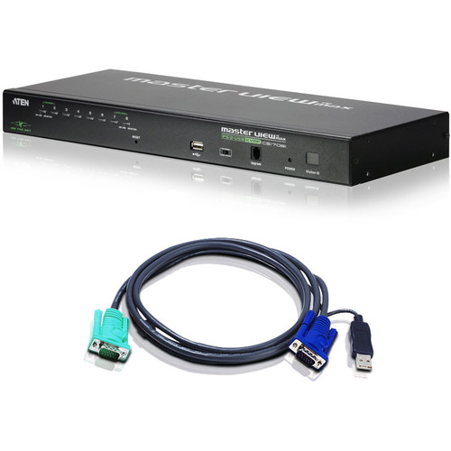 ATEN CS1708I 8-Port PS/2-USB KVM Over IP Switch with Kit