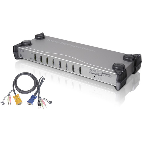 ATEN Kit with 8-Port PS/2-USB KVM Switch and 8-PS/2 Cables